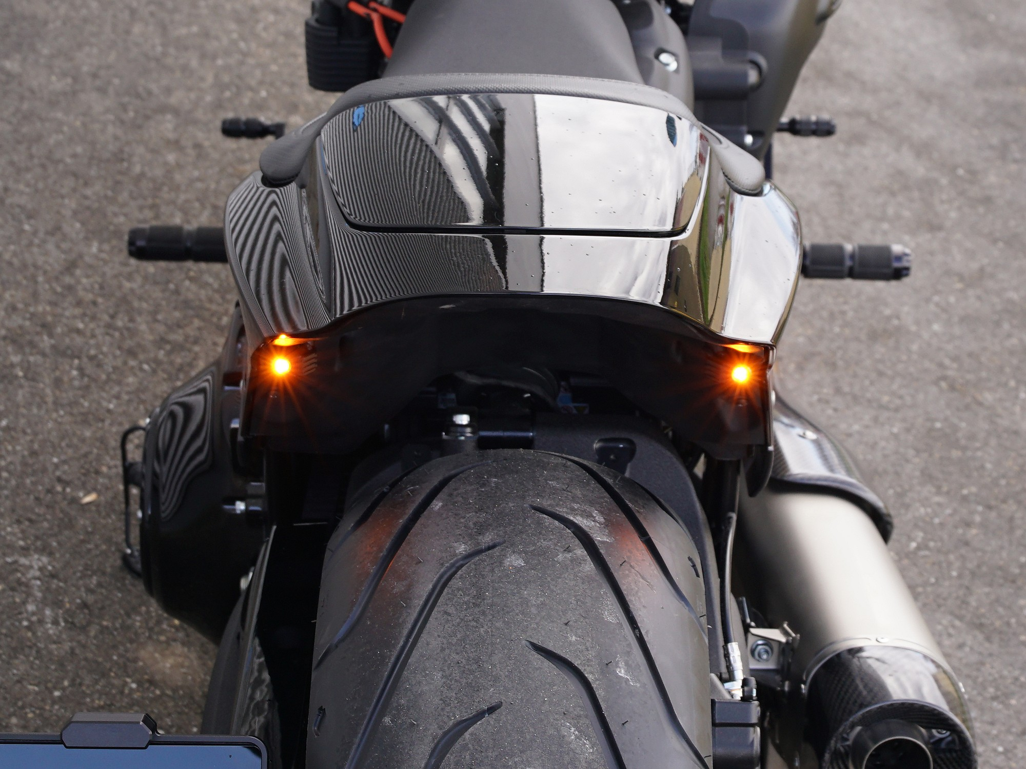 LED taillight/turn signal combination rear lower part HD FXDR